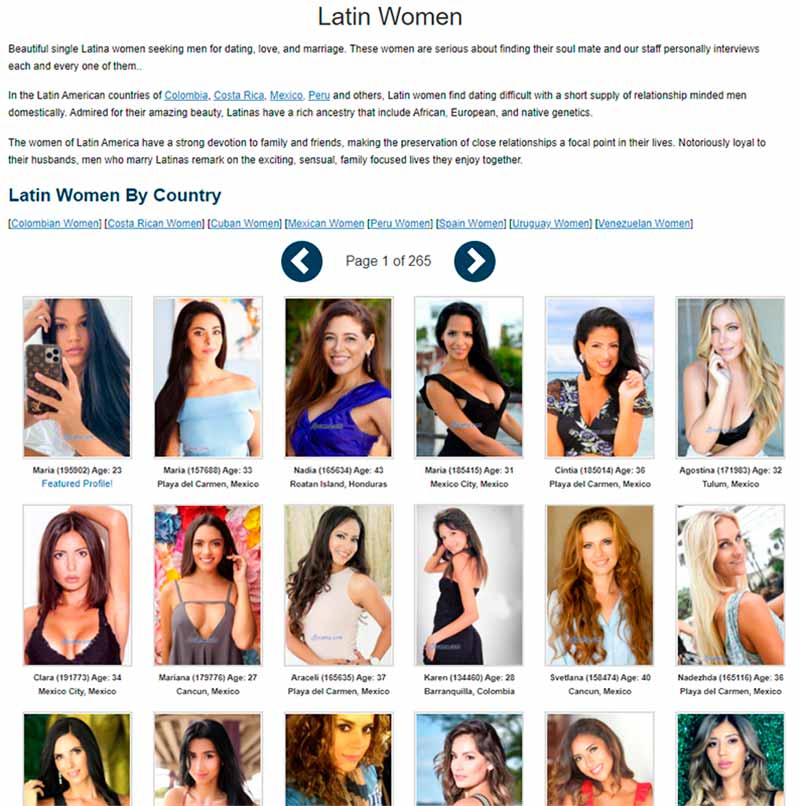 Latina brides for marriage